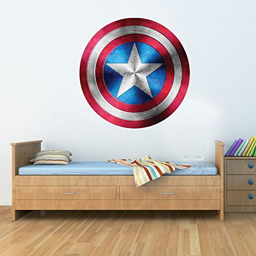 GNG Kapitän Amerika Schild Superheld Kinder Junge MädChen Wunder Rächer Aufkleber decoratif Wandbild Kunst Aufkleber 15cm