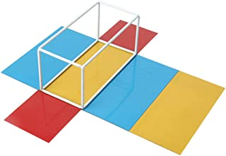 KESOTO 3 pulgadas de prisma triangular que ense/ñan la educaci/ón de la f/ísica de vidrio /óptico