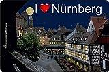 Cadora Magnetschild Kühlschrankmagnet I Love Nürnberg I
