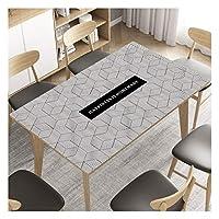 長方形 テーブルクロス コーヒーテーブル/カウンター黒用のマルチサイズ1.5mmの厚手つや消しPVC表カバープロテクタープラスチック長方形ビニールテーブルカバーPVCデスクマット (Color : D, Size : 85*135cm)