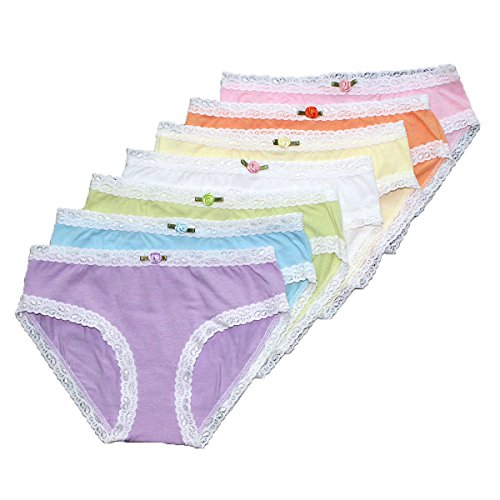 Esme Girl's Panty-XL 10-12- 7 Day Rainbow Panty