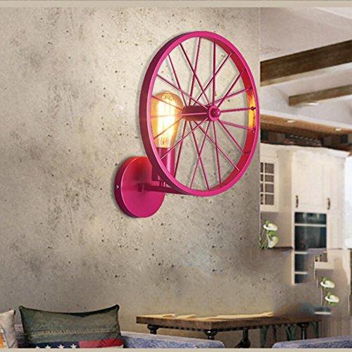 OOFAY Wall Light@ Retro Applique Murale Industrial Iron Art Creative Roue du Moulin À Vent Décoration Bar Restaurants Café Club E27 Style Européen(110-240V, Ampoule Incluse),D