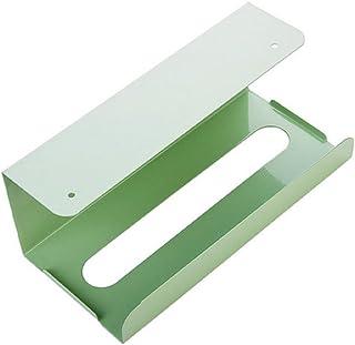 Colorido Home Kitchen Cabinet Hanging Iron Storage Case Box Frame Tissue Paper Holder size Medium (Light Green)