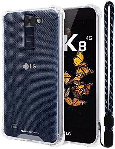 LG K8 Hülle, Mercury [Air Cushion] Kristallklare Hybrid [Protective TPU Cover & Hard PC Back] für LG K8, LGK8-CCH