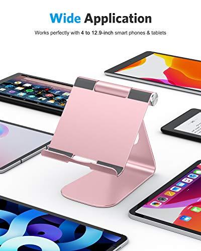 OMOTON Soporte Tablet Ajustable, Multi-ÁnguloBase Tablet de Aluminio para iPad Pro 10.5/9.7/12.9/10.2, iPad Mini 2/3/4/5, iPad Air/Air 2, Samsung Tab, Kindle y Otras Tabletas de 7-13 Pulgadas, Gris 2