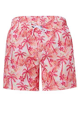 TUONROAD Bunte Badehosen für Männer 3D Palme Hawaii Shorts Sommer Schnelltrocknend Hawaii Bermuda Shorts 16-Inch Badeshorts Jungen XL