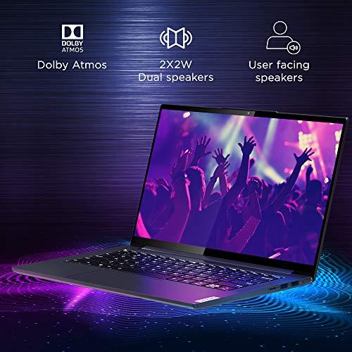 Lenovo Yoga Slim 7i 10th Generation Intel Core i7 14 inch FHD Thin and Light Laptop (8GB/512GB/Windows 10/MS Office/NVIDIA MX350 Graphics/Grey/1.55Kg), 82A1009KIN