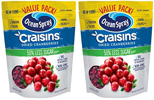 Craisins GDFKGYRET Ocean Spray Dried Cranberries Reduced Sugar 20 Ounce Value Pack