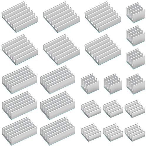 24 Pcs Kit de Disipador de Calor Radiador de Aluminio...