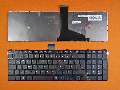 kompatibel für Toshiba Satellite C55 Tastatur - Farbe: schwarz, mit glänzende Rahmen - Deutsches Tastaturlayout - Version 2