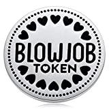 MIXJOY Funny Gift for Husband or Boyfriend - Naughty Gift for Him - Fiance Valentines Day Birthday Anniversary Token Coin Silvery 1.5'