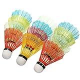 KIICN 12 Pcs Avancée Badminton Volants De Pluie avec Une Grande Stabilité Et Durabilité, Volants en Nylon pour Entraînement De Sports en Plein Air en Plein Air