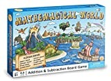 Product Image of the Mathemagical World - Addition & Subtraction Math Board Game for Kids, Ages 5+...