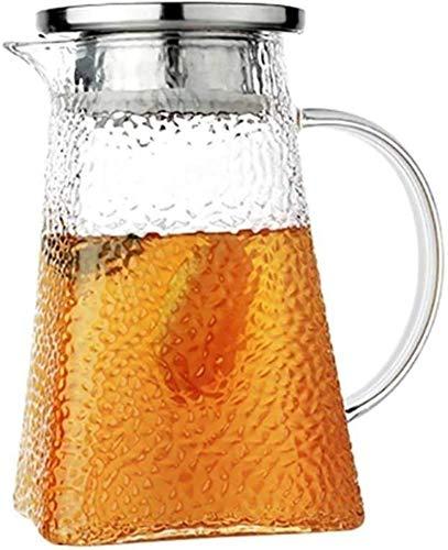 Tetera de cristal de 1 litro de gran capacidad, resistente tetera muy adecuada para té helado, té, café, leche y zumo de té