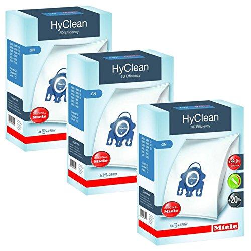 Miele GN Vacuum Hoover Taschen - Komplette C2 C3 Cat & Dog Powerline Stille Ecoline Echte Originale HyClean + Filter (3 Kasten)