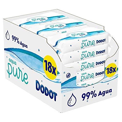 Dodot Aqua Pure Salviette Detergenti per bebè con 99% acqua, 9 confezioni - 3780 g