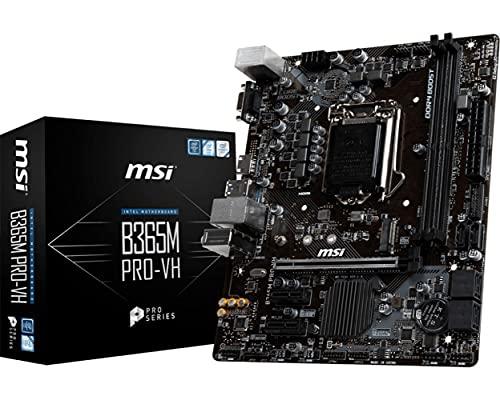 MSI B365M Pro-VH - Placa Base (Intel, LGA 1151 (Zócalo H4), Intel Celeron, Intel Core i3, Intel Core i5, Intel Core i7, Intel Core i9, Intel Pentium, DDR4-SDRAM, DIMM, 2133,2400,2666 MHz)