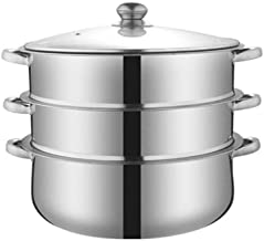 LJBH Food Steamer, Compound Bottom Stainless Steel Steamer Set For Kitchen, Suitable For Gas Stove/Induction Cooker/Univer...