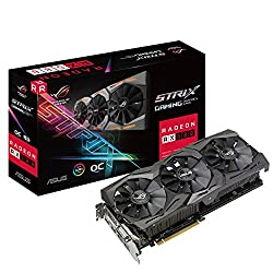Asus ROG Strix-RX580-O8G gaming AMD Radeon graphics card (8GB GDDR5 memory, PCIe 3.0, HDMI, DisplayPort)