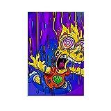 BVNGF Animtion Farbgemälde Bart Simpson Homer Jay