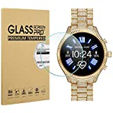 Suoman 3-Pack for Michael Kors Access Lexington 2 Screen Protector Tempered Glass, 2.5D 9H Hardness Screen Protector for Michael Kors Access Lexington 2 Smartwatch