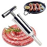 Máquina embutidora manual de salchichas de cocina, máquina embutidora de salchichas de acero inoxidable, embutidora de carne para el hogar comercial