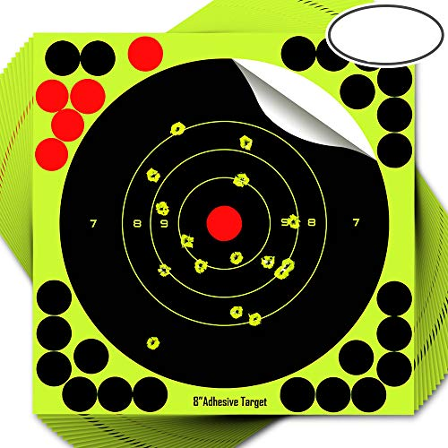 fritz-cell StickandShine 7898 - Lote de 25 adhesivos para diana de diana para armas de aire comprimido, pistolas, airsoft, BB, diábolo, compatible con objetivos Splatterburst