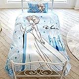 Disney(ディズニー) アナと雪の女王 エルサ 布団カバー3点セット 枕カバー シーツ 掛布団カバー シングル SB-480-D