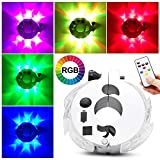 Alritz LED Bike Wheel Hub Lights, Remote Control Bike Spoke Lights, 6 Colors 5 Modes, Rechargeable Bicycle Decoration Cycling Safety Lights, 2 Pack