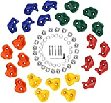 YYXT Presas De Escalada Kids Set Outdoor Incl. Material De Fijación | Piedras De Escalada para Paredes | Piedras De Colores para Torres De Juegos para Niños con Tornillos 25 Set