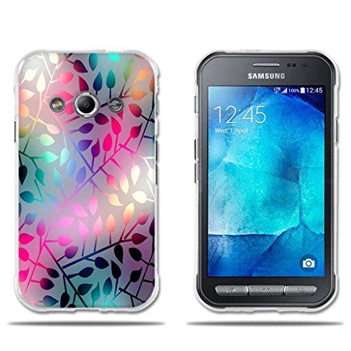 Funda Samsung Galaxy Xcover 3-FUBAODA-3D Realzar, Hermoso Dibujo de Vidriera con Dise?os Vegetales,Amortigua los Golpes, Carcasa Protectora Anti-Golpes para Samsung Galaxy Xcover 3 (4.5')