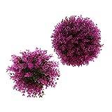 PETSOLA 2pcs Artificial Flower Plants Ball Decoración Creativa Balcón / Corredor / Entrada