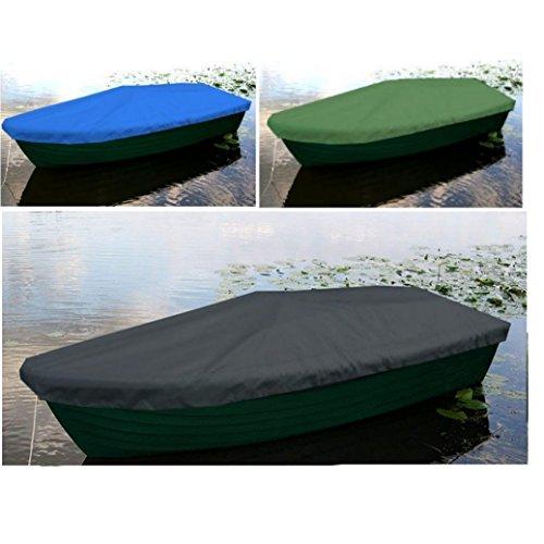 byufya Bootsplane für Anka Ruderboot Premium Wasserdicht Persenning Abdeckplane Bootspersenning Angelboot Abdeckung Haube Anthrazit