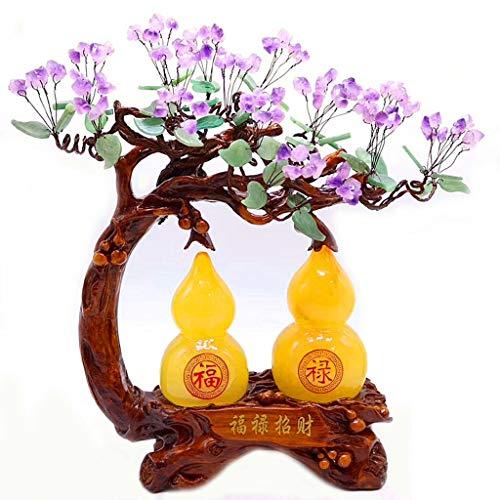 Árbol piedra suerte Crystal árbol del dinero fortuna decoración del árbol de accesorios for el hogar Sala de TV abertura del armario de cristal de regalo Siete Chakra Bonsai árbol del dinero de Feng S