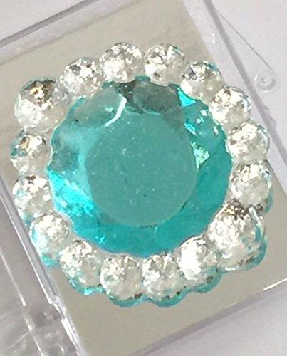 Edible Sugar Brooch Wedding Cake Diamond Jewel Gem Candy Decoration Round (Lavender)