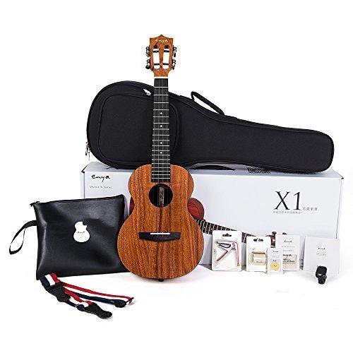 Tenor Ukulele Enya 26 Inch Beginner Kit, HPL and Mahogany Neck With Bundle Includes Case, Strap, Strings, Capo, Sand Shaker, Picks, Polish Cloth (EUT-X1)