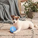 LumoLeaf Balle de jouet Dog Treat, boule interactive de distribution de nourriture de avec le contrôle de difficulté pour les petits et moyens chiens et chats, 12.5cm, Blue #3