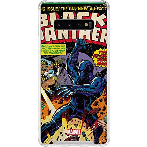 Skinit Clear Phone Case for Galaxy S10 Plus - Officially Licensed Marvel/Disney Black Panther vs Six Million Year Man Design