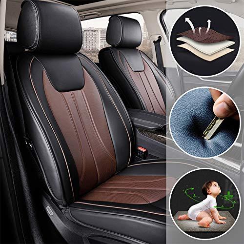 Fundas Asiento Coche de Piel para Nissan Navara 370Z GT-R March Todas Las Estaciones 5 Asientos Cubr