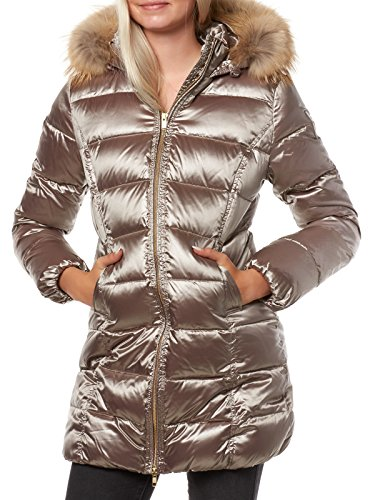 Bomboogie Damen CW106PTCSI Mantel, Beige (Bronze 104), 40 (Herstellergröße: 04)