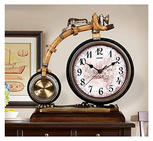 Escritorio Reloj Reloj de la mesa de resina retro de 13.3 pulgadas usada para la sala de estar decoración reloj de escritorio en el reloj de mesa arábiga con termómetro Reloj Sobremesa ( Color : B )