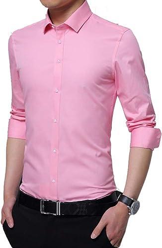 Chemise à Manches Longues Slim Slim pour Hommes D \ 'Affaires, Mode pour Hommes