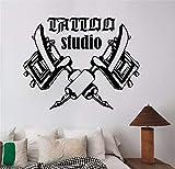 Pegatinas Pared Decorativas Disney Tattoo Salon Room Decor Decal Tattoo Studio Machine Logo Sticker Window Art Decoraciones para Tattoo Salon