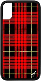 Wildflower Limited Edition iPhone Case for iPhone X and XS (Red Plaid)
