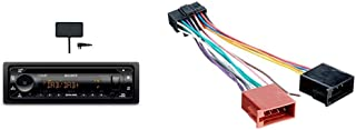 Sony MEX N7300KIT DAB+ Autoradio mit CD, Dual Bluetooth, USB und AUX Anschluss | Bluetooth Freisprechen | 4 X55 Watt | 3X Preout | Extra Bass | Vario Color & Radioadapter passend für SONY 16pin OEM