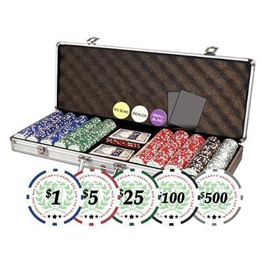 Da Vinci Professional Casino Del Sol Poker Chips Set with Case (Set of 500), 11.5gm