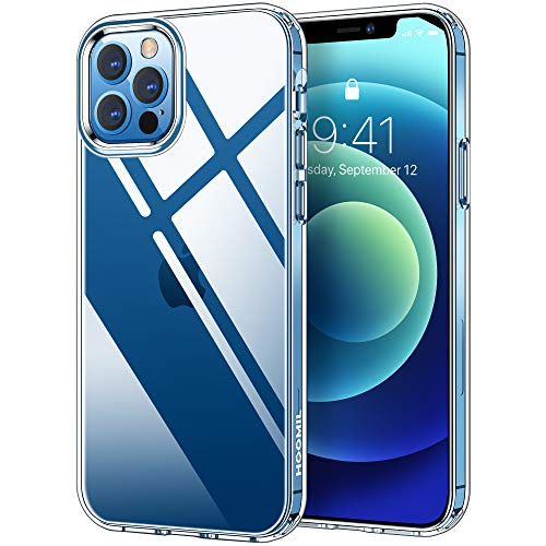 HOOMIL Clear Funda Compatible con iPhone 12 y Compatible con iPhone 12 Pro Carcasa - Transparente