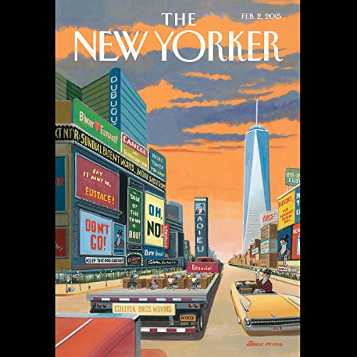 Couverture de The New Yorker, February 2nd 2015 (Rachel Aviv, Alec Wilkinson, Elizabeth Kolbert)