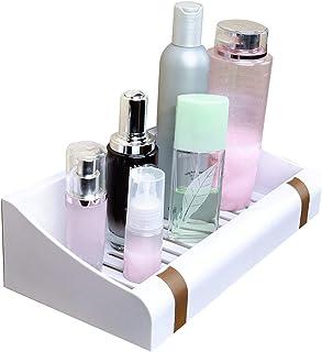 ZHAOHUI 浴室用ラック プラスチック 無毒 つなぐ 換気排水 主催者 防水、 パンチフリーインストール 2色 (色 : ゴールド)