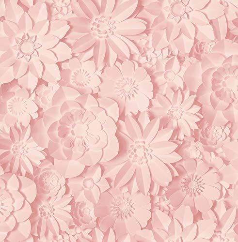 Fine Décor 3D Floral Pink, One Size